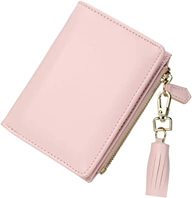 Amazon.com: GEEAD Small Wallets for Women Bifold Slim Coin Purse .