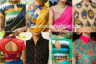 Flaunt The Classy Collar Neck Blouses – South India Fashi