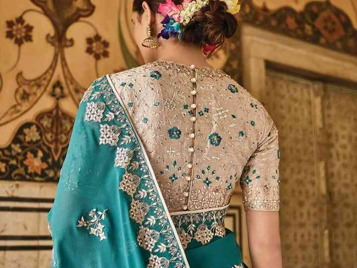 10 Trending Collar Neck Blouse Designs That Are Perfect for Weddin