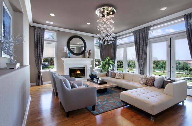 27 Diamonds Interior Design - Contemporary - Living Room - Orange .