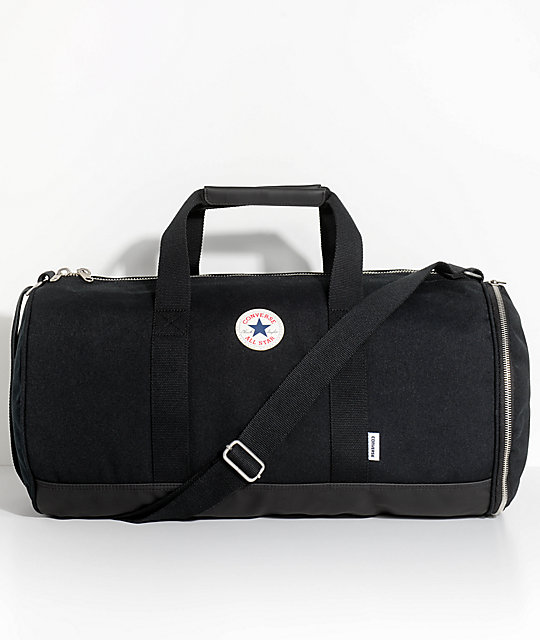 Converse All Star Barrel Black Duffel Bag | Zumi