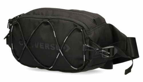Clear 888757221127 CONVERSE belt bag Swap Out Sling Pack Black .