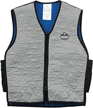 Ergodyne Chill-Its 6665 Evaporative Cooling Vest - Gray, Large .