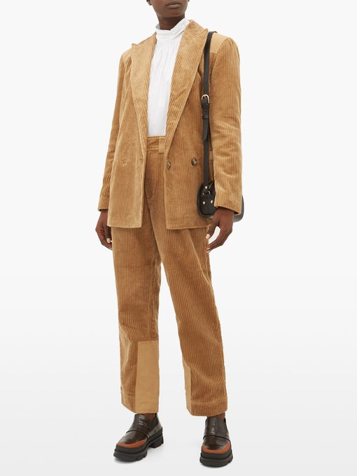 Double-breasted cotton-corduroy blazer | Ganni | MATCHESFASHION