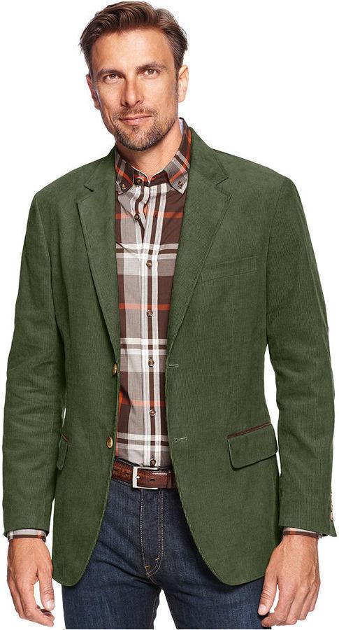 Tasso Elba Jacket Corduroy Blazer, $79 | Macy's | Lookastic.c