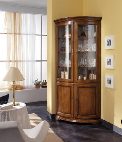Corner showcase in classical style, Mascotto - Luxury furniture