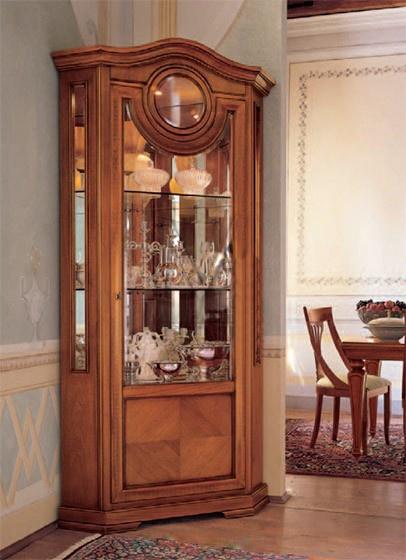 Corner showcase with glass facade, Alf - Luxury furniture