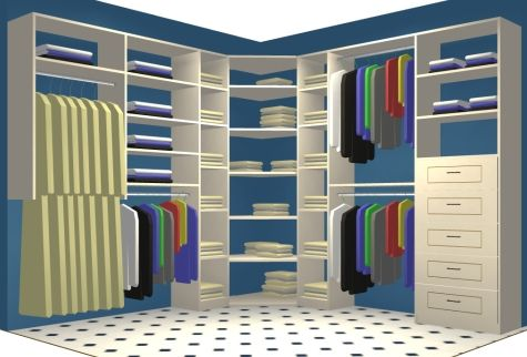 How to Maximize Storage Space in Closet Corners | Bedroom .