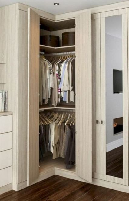 Pin by Gabby Zuniga on Corner closets in 2020 | Wardrobe room .