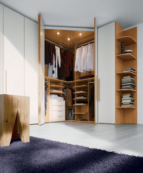 Suggestions For Wardrobe In Small Apartment | Corner wardrobe .