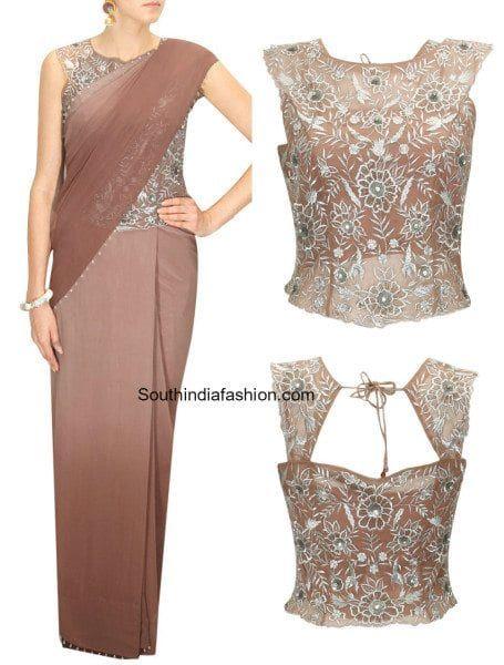 Hot Fashion Trend - Corset Blouses! | Long saree blouse designs .