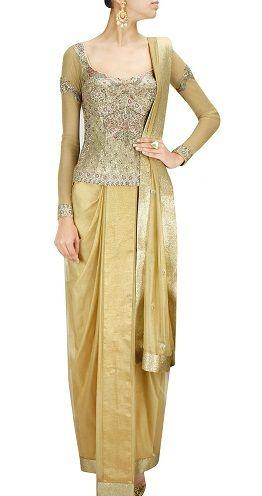 21 Fashionable Corset Blouse Designs for Indian Sarees | Corset .