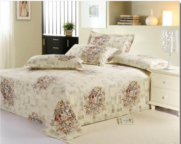 1pcs Hot sale Modern design Printed bed sheets queen size 100 .