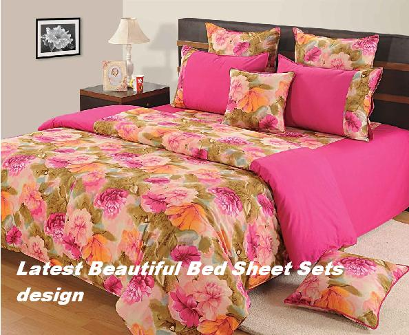 Bed Sheet with Cotton bed sheets Design: Latest Beautiful Bed .