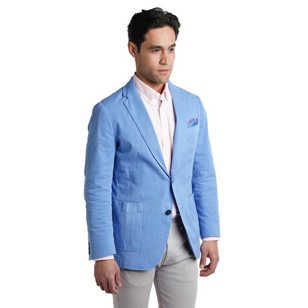 Unstructured Cotton Blazers - Blue – Peter Manning N