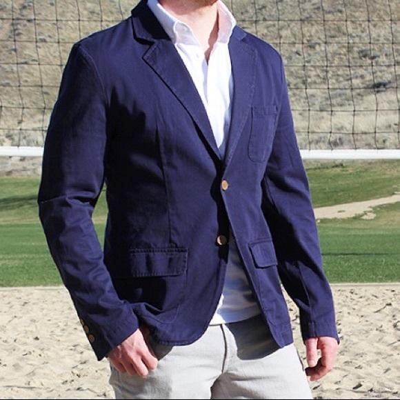 Merona Jackets & Coats | Mens Navy Cotton Blazer | Poshma