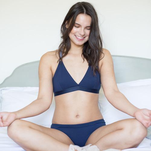 Blue Organic Cotton Bra – Made With Respe