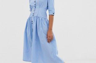 ASOS DESIGN cotton midi dress | AS