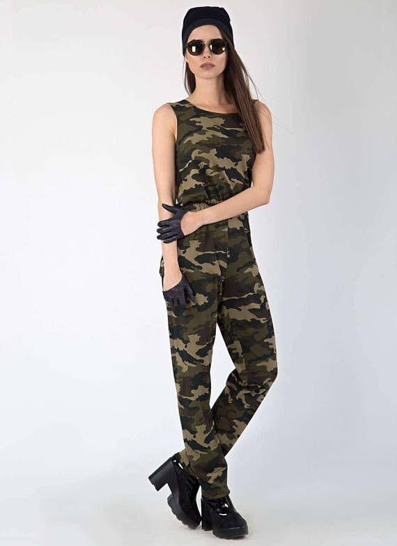 Camouflage Jumpsuit, Military Jumpsuit, Camo jumpsuit, Camo .