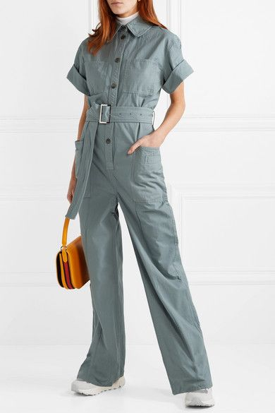 Acne Studios - Phyllis cotton-twill jumpsuit (With images .