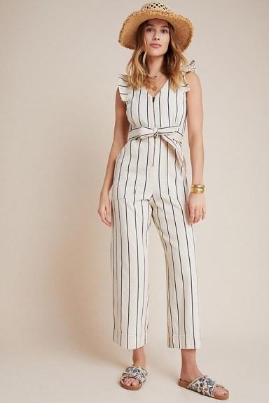 Anthropologie Hedda Jumpsuit | striped cotton jumpsuits .