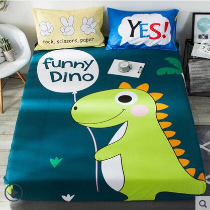 1pc Dinosaur Designs 100% Cotton Mattress Cover Fitted Sheet Bed .