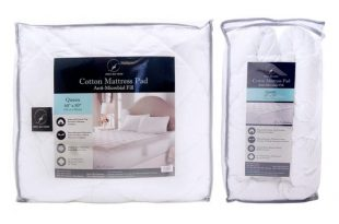 Shop Home Fashions Design Ultra-Soft Quilted Cotton Mattress Pad .