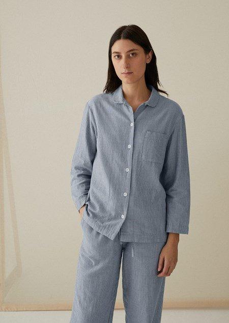 Stripe Double Cotton Pyjamas | TOA