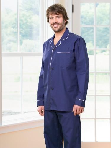Mens Broadcloth Pajamas | Breathable Cotton P