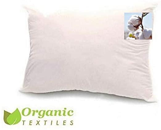 Amazon.com: 100% Organic Cotton Pillow, Medium Filled (Queen Size .