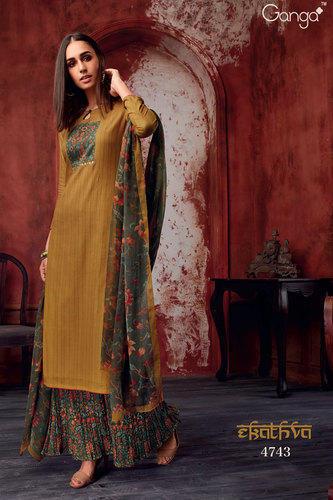 Cotton Mustard Color Designer Salwar Suit, Rs 1958 /piece Ganga .