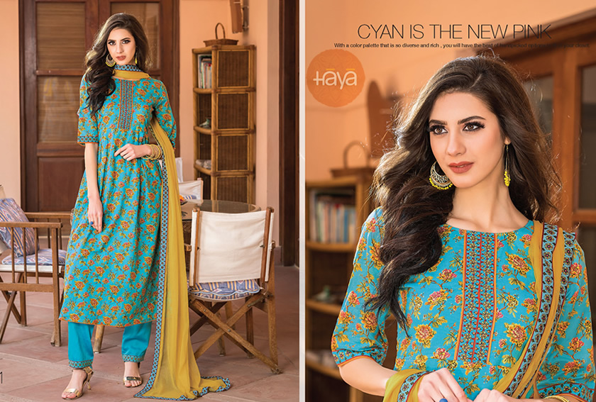Latest Cotton Salwar Suit Collections for Hot Summer - HayaIndia .