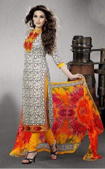 Indian Designer Embroidered Maroon Cotton Salwar Kameez