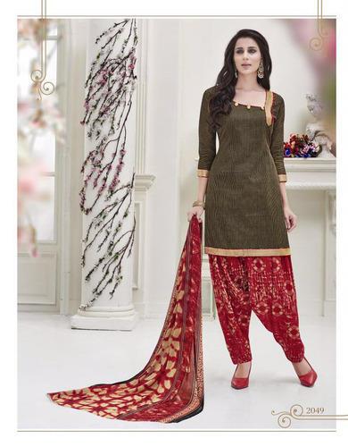 Green Casual Wear Designer Cotton Salwar Suit, Rs 443 /piece .