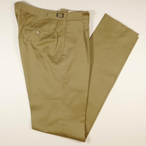 Beige Cotton Trousers – Last & Lap
