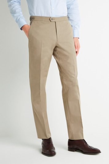Savoy Taylors Guild Tailored Fit Beige Cotton Pan