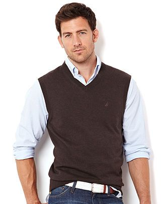 Nautica Sweaters, Cotton Vest Sweaters - Mens Sweaters - Macy's .