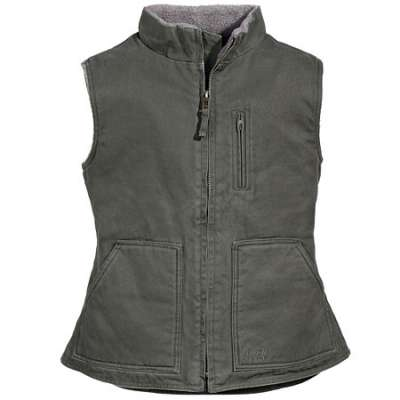 Lakin McKey Vests: Women's Olive Lined Cotton Duck Vest 39