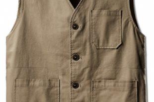 Basic Simple Plain V-Neck Sleeveless Button Closure Cotton Vest .