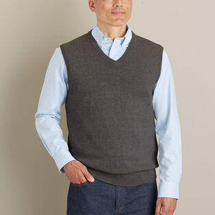 Men's Strongarm Cotton Sweater Vest | Duluth Trading Compa
