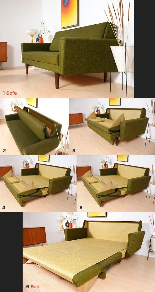 1968 Danish Sleeper Sofa | Diseño de muebles, Diseño de interiores .