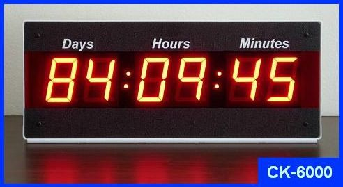 CK-6000 Countdown or Count Up Timer with Days Hours Minut