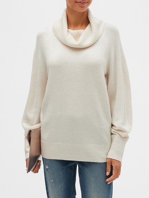 Cowl-Neck Sweater | Banana Republic Facto