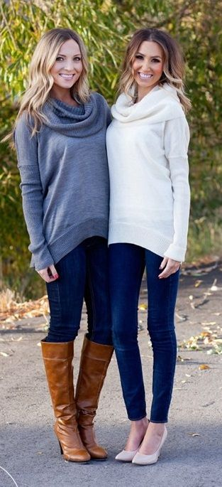 Lux Cowl Neck Sweaters (With images) | Cowl neck sweater outfit .