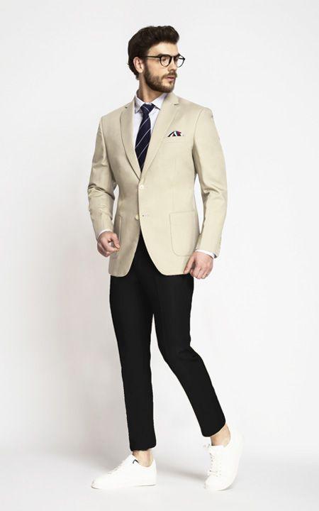 Pastel Cream Cotton Blazer - | Custom Made by A.I | Blazer outfits .