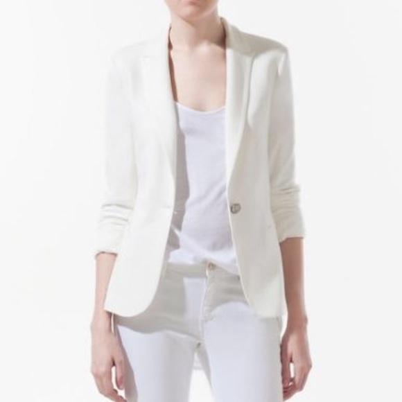 Zara Jackets & Coats | Woman Cream Summer Blazer | Poshma