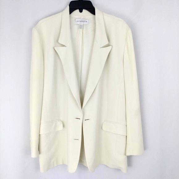 Liz Claiborne Jackets & Coats | Cream Blazer | Poshma