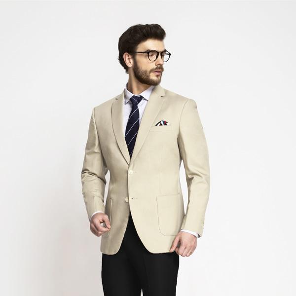 Pastel Cream Cotton Blazer | Custom Made by A.