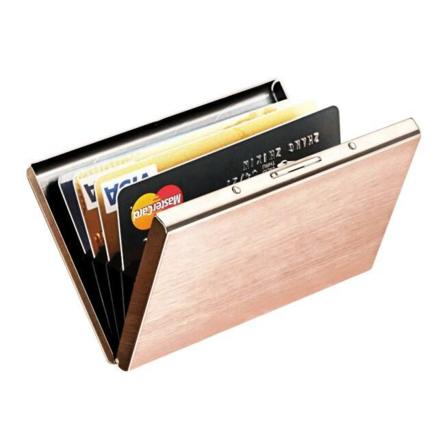 Credit Card Holder Wallet Case Protector RFID Block Aluminum Women .