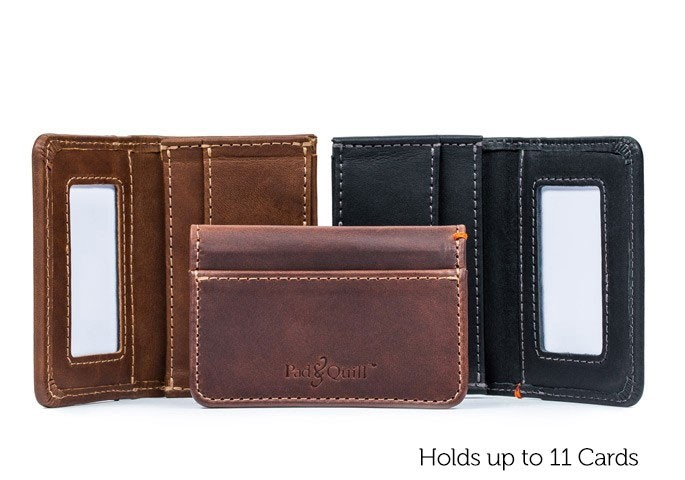 Camden Leather Credit Card Wallet For Men | Pad & Qui